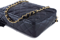 Chanel Black Patent Classic Quilted Camera Case Bag - Boutique Patina  - 6