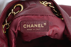Chanel Red Soft Textured CC Logo Drawstring Tote Shopper Bag - Boutique Patina  - 8