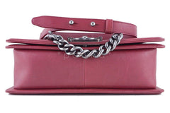 Chanel Dusty Rose Le Boy Classic Flap, Pink Medium Lambskin Bag - Boutique Patina  - 6