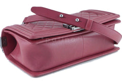 Chanel Dusty Rose Le Boy Classic Flap, Pink Medium Lambskin Bag - Boutique Patina  - 7