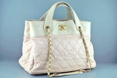 Chanel Light Beige In the Mix Soft CC Quilted Classic Tote Bag - Boutique Patina  - 2