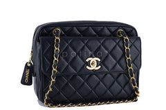 Chanel Black Classic Quilted Flap Camera Case Bag - Boutique Patina  - 2