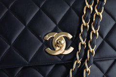 Chanel Black Classic Quilted Flap Camera Case Bag - Boutique Patina  - 7