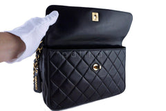 Chanel Black Classic Quilted Flap Camera Case Bag - Boutique Patina  - 8