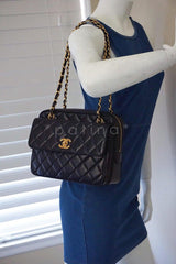 Chanel Black Classic Quilted Flap Camera Case Bag - Boutique Patina  - 14