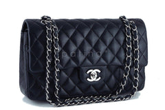Chanel Black Lambskin Medium Classic 2.55 Double Flap Bag, SHW - Boutique Patina  - 2