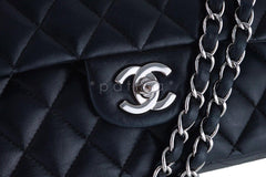 Chanel Black Lambskin Medium Classic 2.55 Double Flap Bag, SHW - Boutique Patina  - 6