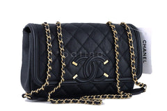 NWT 16S Chanel Black Limited Caviar Filigree Logo Flap Crossbody Bag - Boutique Patina  - 2
