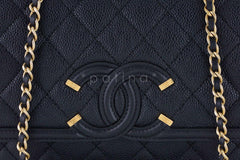 NWT 16S Chanel Black Limited Caviar Filigree Logo Flap Crossbody Bag - Boutique Patina  - 7