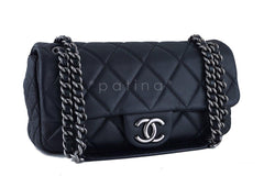 Chanel Black 10in. Soft Caviar Medium Quilted Classic Flap Bag - Boutique Patina  - 2