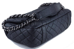Chanel Black 10in. Soft Caviar Medium Quilted Classic Flap Bag - Boutique Patina  - 6