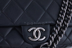 Chanel Black 10in. Soft Caviar Medium Quilted Classic Flap Bag - Boutique Patina  - 7