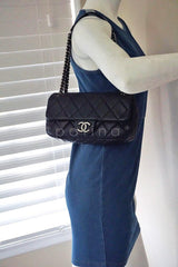 Chanel Black 10in. Soft Caviar Medium Quilted Classic Flap Bag - Boutique Patina  - 13