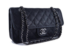 Chanel Black Caviar Classic French Riviera Flap Bag - Boutique Patina  - 2
