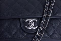 Chanel Black Caviar Classic French Riviera Flap Bag - Boutique Patina  - 7