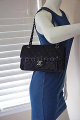 Chanel Black Caviar Classic French Riviera Flap Bag - Boutique Patina  - 13