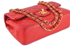 Chanel Red Lambskin Medium-Small Classic 2.55 Double Flap Bag - Boutique Patina  - 6