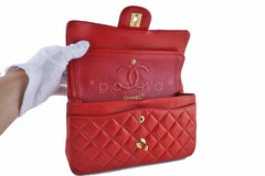 Chanel Red Lambskin Medium-Small Classic 2.55 Double Flap Bag - Boutique Patina  - 9