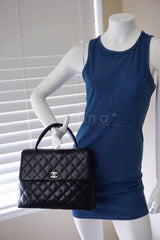Chanel Black 2.55 Classic Quilted Kelly Flap Satchel Bag - Boutique Patina  - 13