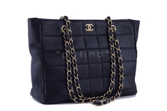 Chanel Black Classic Quilted Shopper Tote with Gold Chain Bag - Boutique Patina  - 2