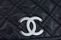 Chanel Black Hidden Chain Jumbo Luxury Flap Bag - Boutique Patina  - 8