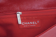 Chanel Red Textured Patent Luxe Frame Classic Flap Bag - Boutique Patina  - 10
