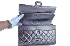 Chanel Dark Silver Distressed Calf 226 Classic Reissue 2.55 Flap Bag - Boutique Patina  - 11