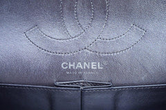 Chanel Dark Silver Distressed Calf 226 Classic Reissue 2.55 Flap Bag - Boutique Patina  - 13