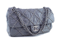Chanel Gray 14in. Maxi Ultra Stitch Jumbo Classic Flap Bag 61754 - Boutique Patina  - 2