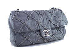 Chanel Gray 14in. Maxi Ultra Stitch Jumbo Classic Flap Bag 61754 - Boutique Patina  - 3