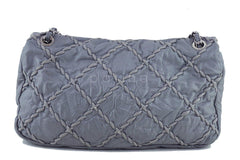 Chanel Gray 14in. Maxi Ultra Stitch Jumbo Classic Flap Bag 61754 - Boutique Patina  - 5