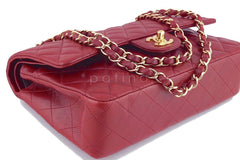 Chanel Dark Red Lambskin Medium-Large Classic 2.55 Double Flap Bag