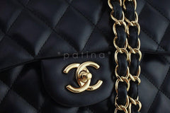 Chanel Black Lambskin Jumbo 2.55 Classic Double Flap Bag - Boutique Patina  - 8