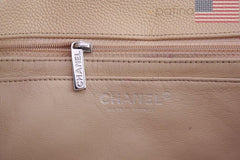 Chanel Beige Clair Caviar Jumbo 2.55 Classic Flap Bag - Boutique Patina  - 10