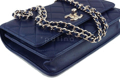 NWT 16K Chanel Blue Trendy CC Classic Wallet on Chain WOC Flap Bag Rare - Boutique Patina  - 5