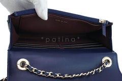 NWT 16K Chanel Blue Trendy CC Classic Wallet on Chain WOC Flap Bag Rare - Boutique Patina  - 10