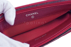 NWT 16B Chanel Red Caviar Mini Camera Case Wallet on Chain WOC Bag