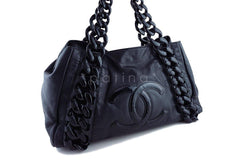 Chanel Black Large Luxury Modern Resin Chain Jumbo Tote Bag - Boutique Patina  - 2
