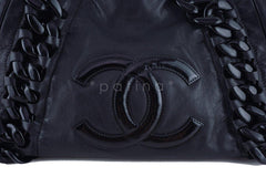 Chanel Black Large Luxury Modern Resin Chain Jumbo Tote Bag - Boutique Patina  - 7