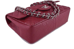 Chanel Dark Red Caviar Jumbo 2.55 Classic Flap Bag - Boutique Patina  - 7