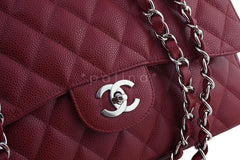 Chanel Dark Red Caviar Jumbo 2.55 Classic Flap Bag - Boutique Patina  - 8