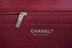 Chanel Dark Red Caviar Jumbo 2.55 Classic Flap Bag - Boutique Patina  - 11
