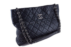 Chanel Black Classic Quilted Shopper Tote Bag - Boutique Patina  - 9