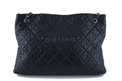 Chanel Black Classic Quilted Shopper Tote Bag - Boutique Patina  - 3