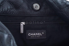 Chanel Black Classic Quilted Shopper Tote Bag - Boutique Patina  - 7