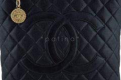Chanel Black Caviar Classic Quilted Medallion Shopper Tote Bag - Boutique Patina  - 8