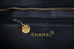 Chanel Black Caviar Classic Quilted Medallion Shopper Tote Bag - Boutique Patina  - 10