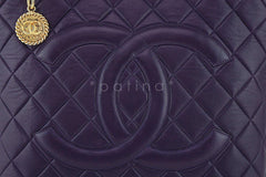 Chanel Purple Luxe Lambskin Quilted Medallion Shopper Tote Bag - Boutique Patina  - 7