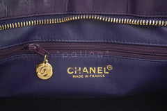 Chanel Purple Luxe Lambskin Quilted Medallion Shopper Tote Bag - Boutique Patina  - 9
