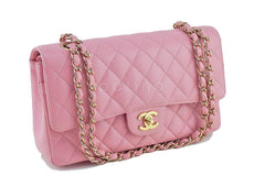 Chanel Pink Caviar Medium Classic 2.55 Double Flap Bag - Boutique Patina  - 3